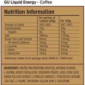 GU Energy Liquid Gel Test Package 6 x 60g, Mixed